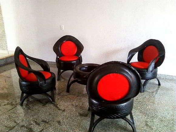 Кресло из старых покрышек своими руками