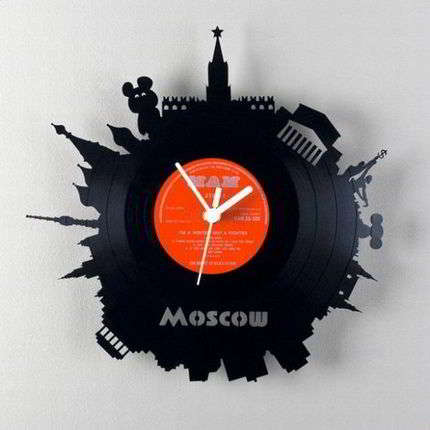 Часы из виниловых пластинок своими руками