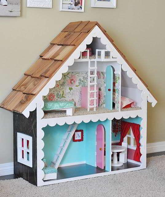 Деревянный кукольный дом своими руками
